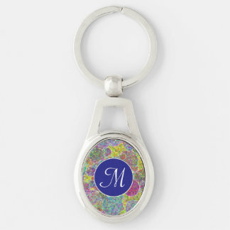 Bubbles mosaic key ring