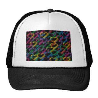 Bubbles neon rainbow colors hats
