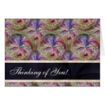 Bubbles Pattern Personalised Thinking of You Greeting Card
