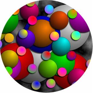 Bubbles Photo Sculpture Key Ring
