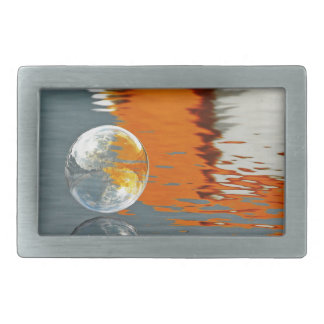 Bubbles Reflecting in Water Belt Buckle