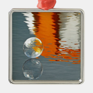 Bubbles Reflecting in Water Christmas Ornament