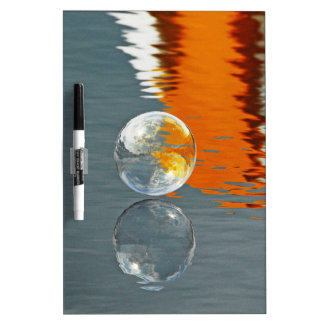 Bubbles Reflecting in Water Dry Erase Whiteboard