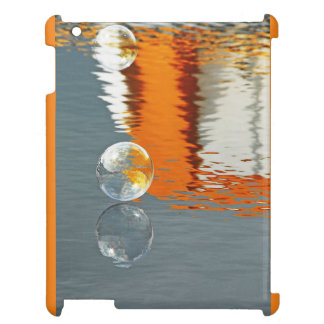 Bubbles Reflections in a Boatyard iPad Cover