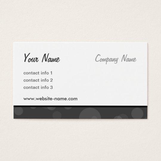 Bubbles Series - Black Business Card