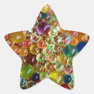 bubbles star sticker