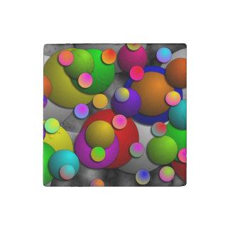 Bubbles Stone Magnet