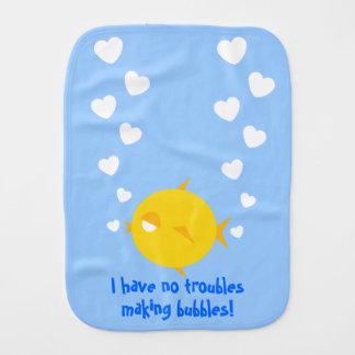 Bubbles The BlowFish_Heart-shaped loving bubbles Burp Cloth