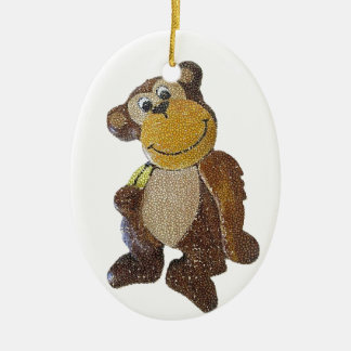 Bubbles The Bubble Monkey Ceramic Oval Decoration