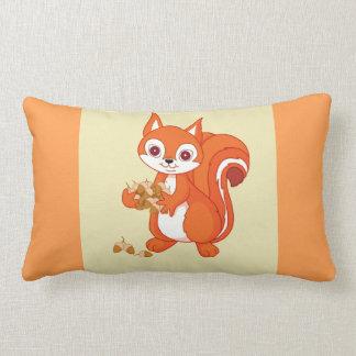 Bubbles the Helpful Squirrel Reversible Lumbar Cushion