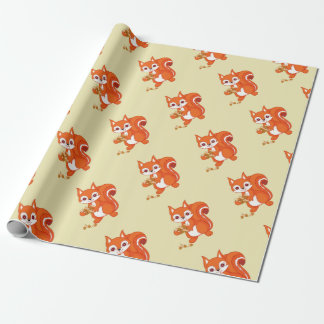 Bubbles the Helpful Squirrel Wrapping Paper