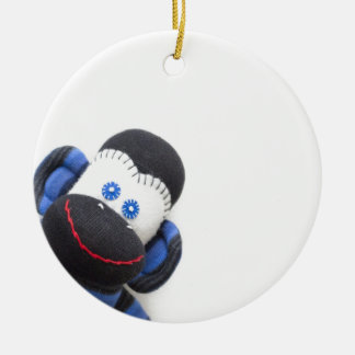 Bubbles the sock monkey christmas ornament