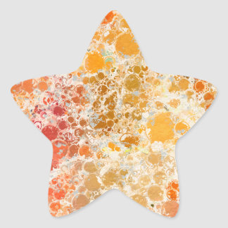 Bubblicious XI Red and Orange Abstract Star Sticker