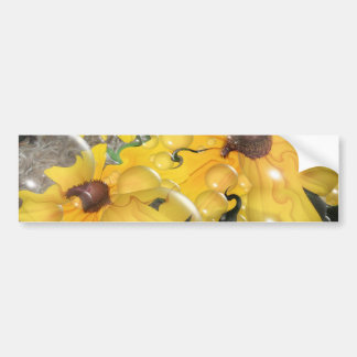 Bubbling Black-Eyed Susan Abstract Bumper Sticker