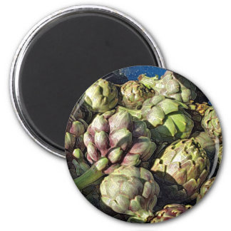 Bubbling Blue Pot of Artichokes Magnet