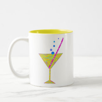 Bubbly Abstract Art Cocktail Hour Mug