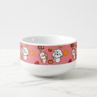 bubbly and his friends patterns soup mug