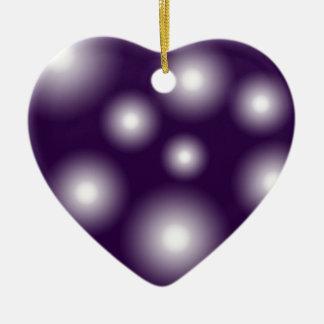 bubbly and purple ceramic heart decoration