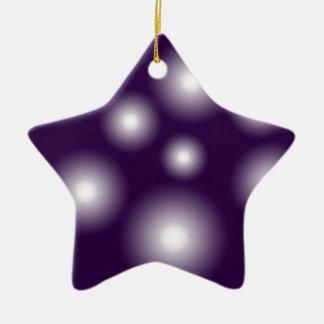 bubbly and purple ceramic star decoration