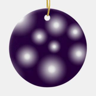 bubbly and purple round ceramic decoration