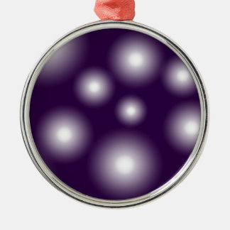 bubbly and purple Silver-Colored round decoration
