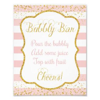 Bubbly Bar Sign • Bridal Shower 8 x 10 Print