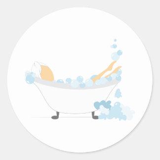 Bubbly Bath Round Sticker