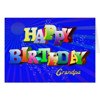 Bubbly birthday card for grandpa