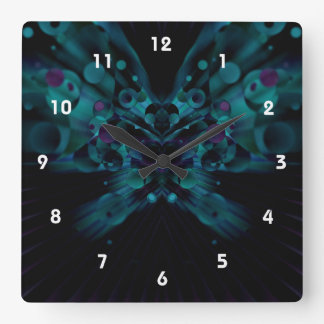 Bubbly Butterfly Square Wall Clock