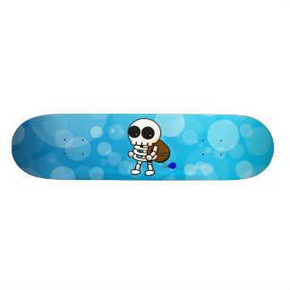 Bubbly Cool Skeleton Skateboard