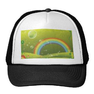 Bubbly fantasy rainbow trucker hat
