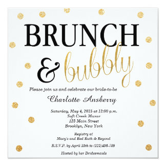 Bubbly Glitter Bridal Shower Invitation