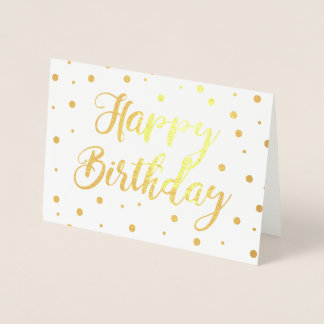 Bubbly Happy Birthday Foil Card