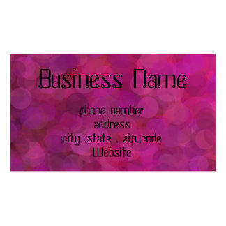 bubbly pink Double-Sided standard business cards (Pack of 100)