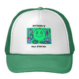 Bubbly the frog cap