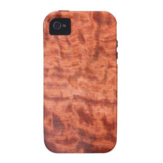 bubinga (faux) Wood Grain Finish iPhone 4 Case