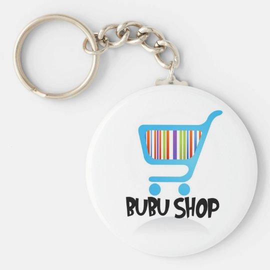 BUBU SHOP CHAIN BASIC ROUND BUTTON KEY RING
