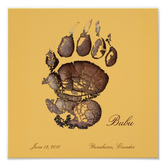 Bubu's Pawprint brown Poster