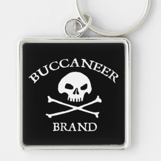 Buccaneer Brand Silver-Colored Square Key Ring