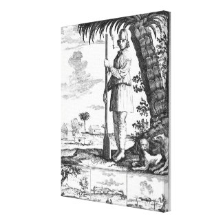 Buccaneer in the West Indies, 1686 Canvas Print