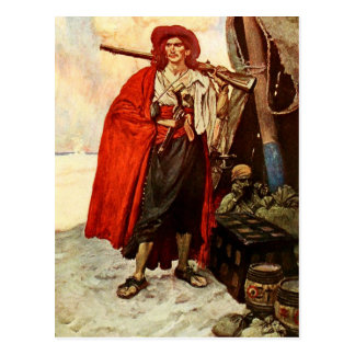 Buccaneer With A Rifle Postcard