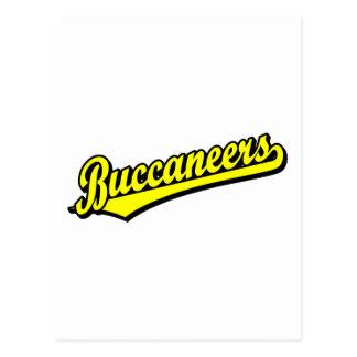 Buccaneers script logo in Yellow Postcard