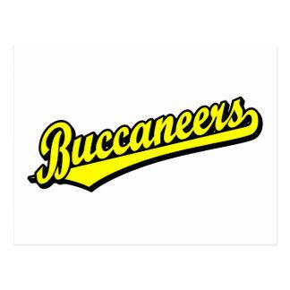 Buccaneers script logo in Yellow Post Cards
