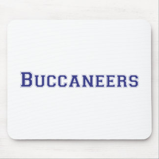 Buccaneers square logo in blue mouse pad