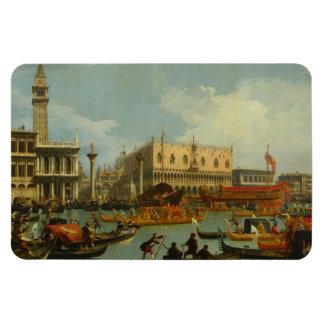 Bucentaur's Return Palazzo Ducale Canaletto Fine Magnet