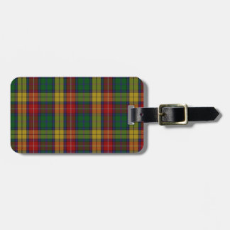 Buchanan Clan Family Tartan Luggage Tag