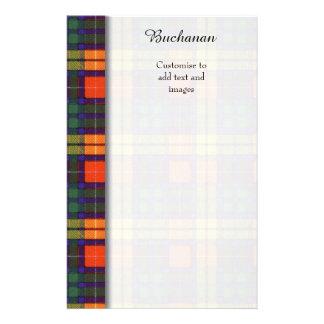 Buchanan clan Plaid Scottish tartan 14 Cm X 21.5 Cm Flyer