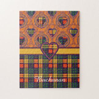 Buchanan clan Plaid Scottish tartan Jigsaw Puzzle