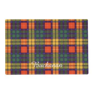 Buchanan clan Plaid Scottish tartan Laminated Place Mat