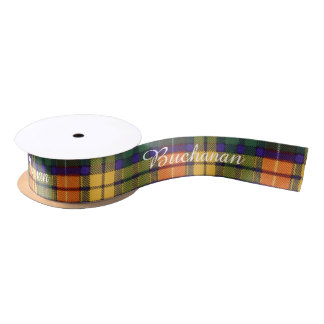 Buchanan clan Plaid Scottish tartan Satin Ribbon